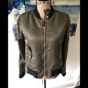 Veronica Beard flight bomber jacket